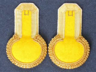 Officers Eupalets 3rd grenadiers division, yellow, gold, white pipped. Replica