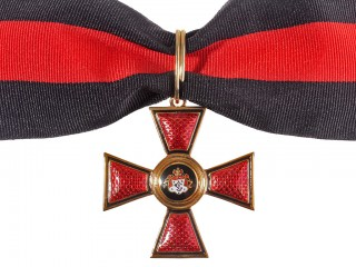 Cross of Order of Saint Vladimir 3rd Class without swords, Russian Imperial Order WWI