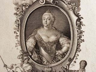 Copper Plate Engraving, Catherine II Of Russia, Russia