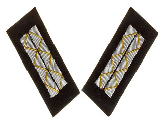Parade Collar Insignia, Senior Officers, Armored Forces, Non-Combat Personnel, 1943 Type, RKKA, USSR, Replica