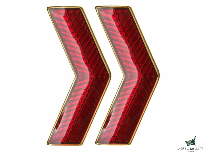 Фотография VV GUGB NKVD Collar Rank Insignia badge red with gold, USSR, replica - Увеличенное изображение
