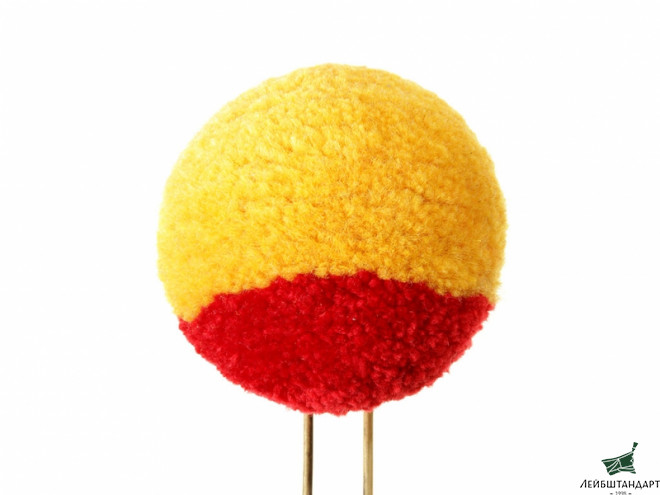 Фотография Pom pom for shako hat m1811 yellow with red strip soldier's, 3rd Battalion of infantry rifle company, Imperial Russia 1812 - Увеличенное изображение