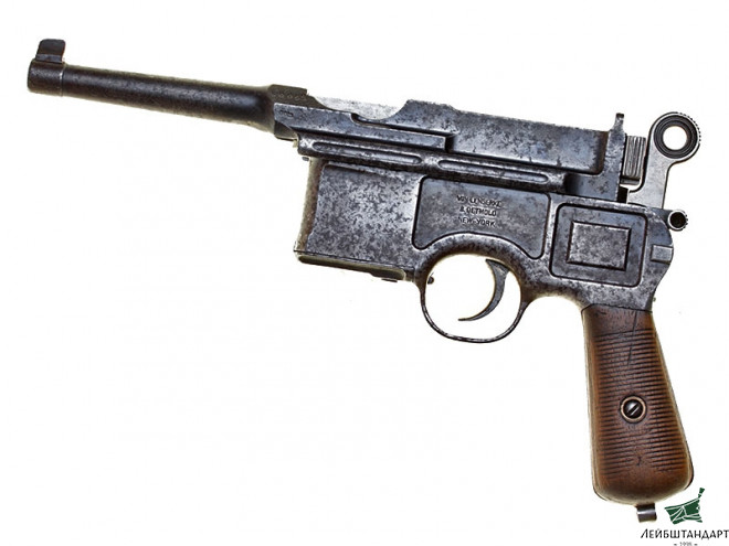 Фотография Mauser С96 Handgun, 6 Shot Large Ring Hammer, Germany - Увеличенное изображение