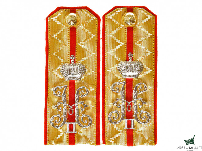 Фотография Guards Cavalry Hussars Regiment shoulder boards Rittmeister Russian Imperial Guards WWI - Увеличенное изображение